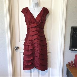 London Times Burgundy Dress sz 6